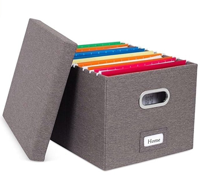 Internet's Best Collapsible File Storage Organizer with Lid 1