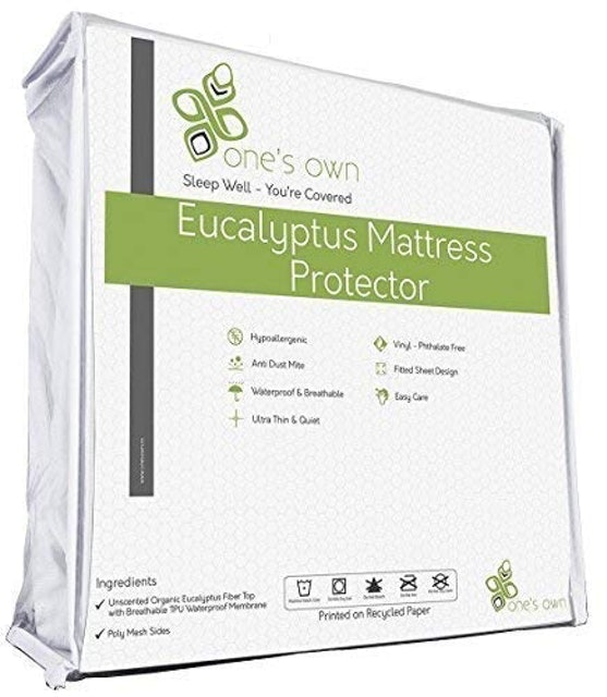 One's Own  Organic Tencel/Eucalyptus Fiber Top Mattress Protector 1