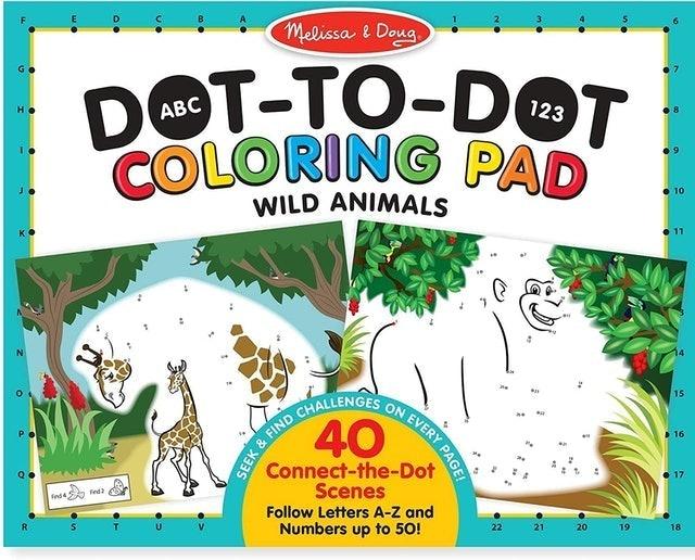 Melissa & Doug ABC 123 Dot-to-Dot Coloring Pad 1