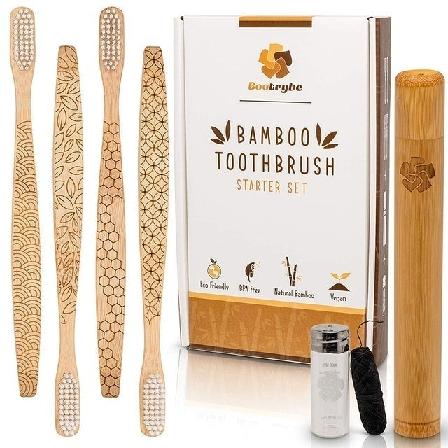 Bootrybe Eco-Friendly Bamboo Toothbrush Set 1
