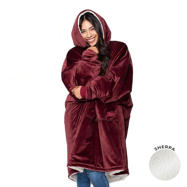 The Comfy Oversized Sherpa Blanket Sweatshirt 1