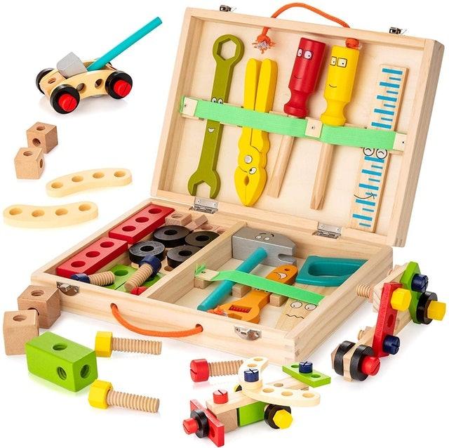 Kidwill Wooden Tool Box  1