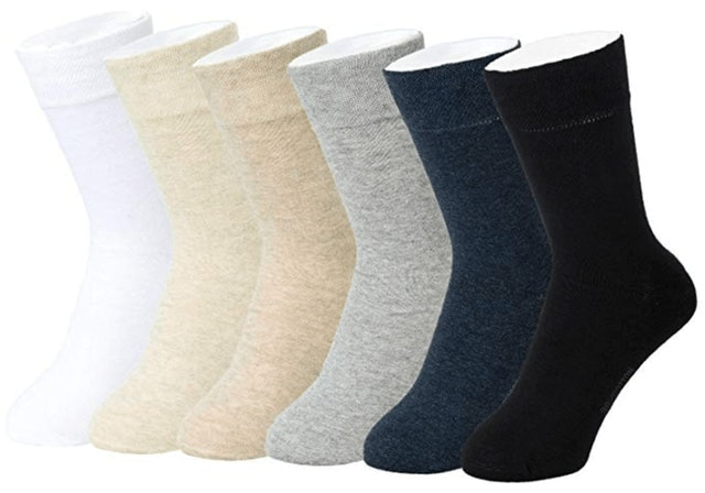 Feetalk 98% Cotton Lightweight Dress Socks 1