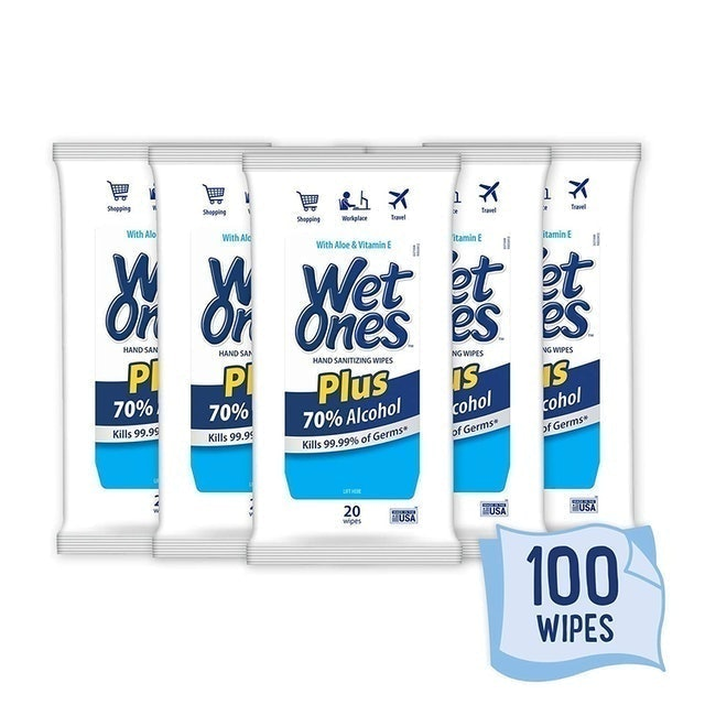 Wet Ones 70% Alcohol Hand Sanitizer Wipes 1