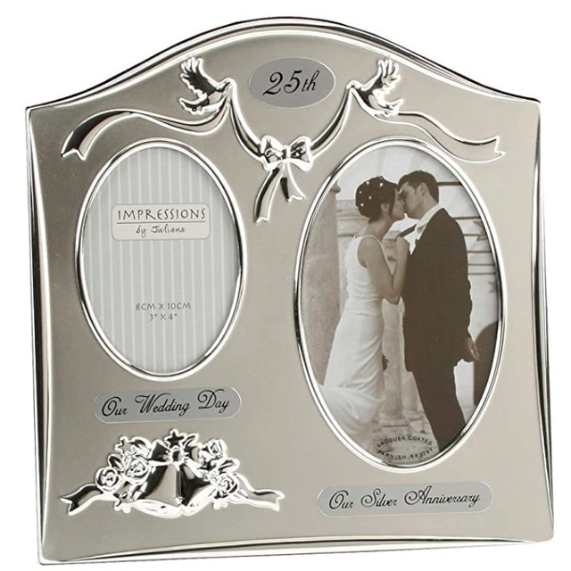 Juliana Two-Tone Silver-Plated Photo Frame 1