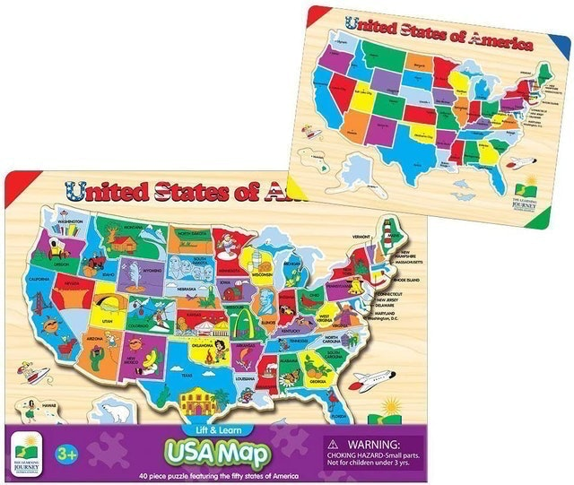 The Learning Journey Store Lift & Learn Puzzle - USA Map 1