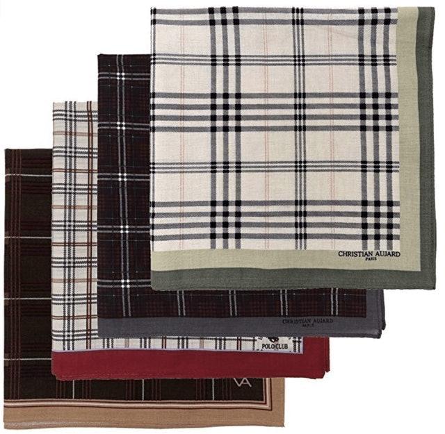 Leevo Assorted Woven Cotton Handkerchiefs 1