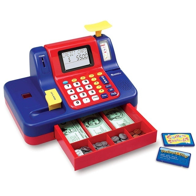 Learning Resources Pretend & Play Calculator Cash Register 1