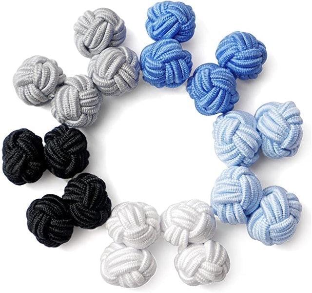 Honey Bear Silk Knot Fabric Cufflinks 1