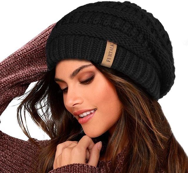 Furtalk Slouchy Knit Beanie Hat 1