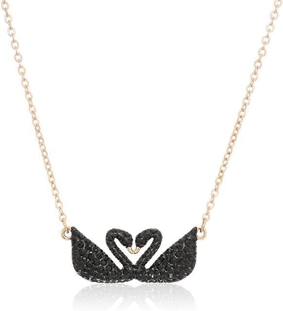 Valentine's Day Necklaces Swarovski Women's Black Iconic Swan Necklace 1