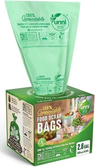 Unni 100% Compostable Food Scrap Bags 1