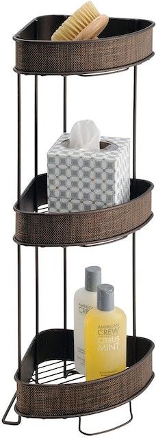 iDesign Twillo Metal Wire Corner Standing Shower Caddy 1