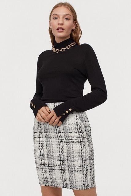 H&M Bouclé Skirt 1
