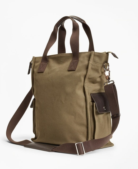 Brooks Brothers Canvas Tote 1