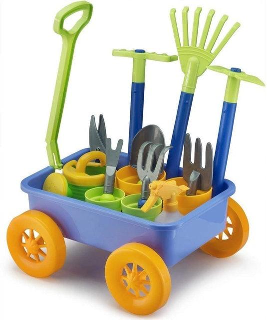 Liberty Imports Garden Wagon & Tools Toy Set  1