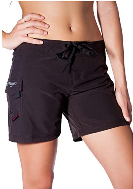 "Maui Rippers Women's 5"" 4-Way Stretch Swim Shorts Boardshorts 1"