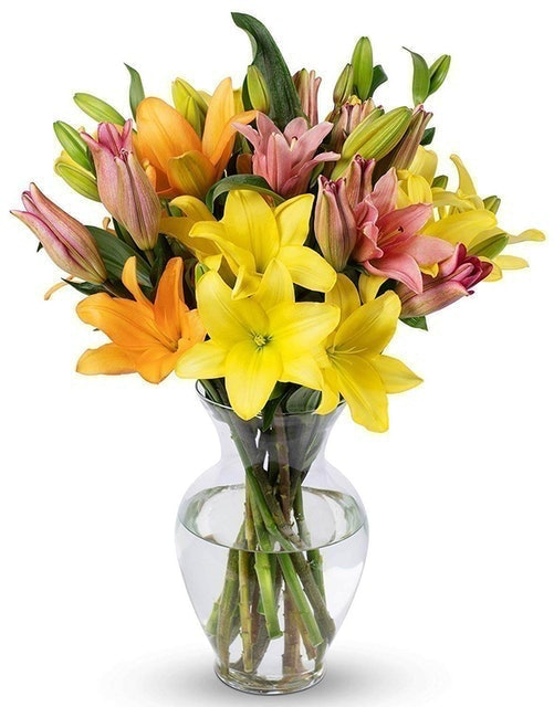 Benchmark Bouquets Assorted Asiatic Lilies 1
