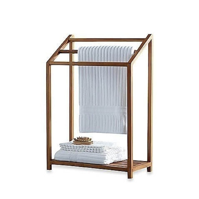 AquaTeak Freestanding Towel Rack 1