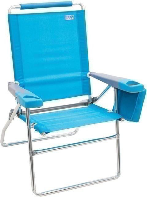 "RIO Gear 17"" Extended Height 4-Position Folding Beach Chair 1"