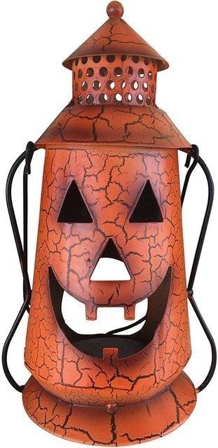 Clovers Garden Store Jack O Lantern Rustic Lantern with Handle 1
