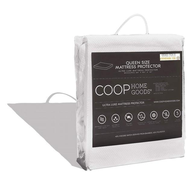 Coop Home Goods Oeko-TEX Certified Bamboo Queen Mattress Protector 1