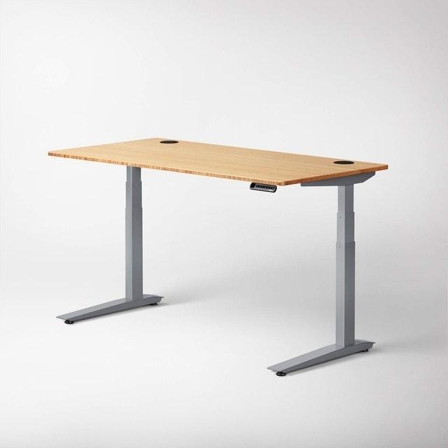 Jarvis Standing Desk with Bamboo Top 1
