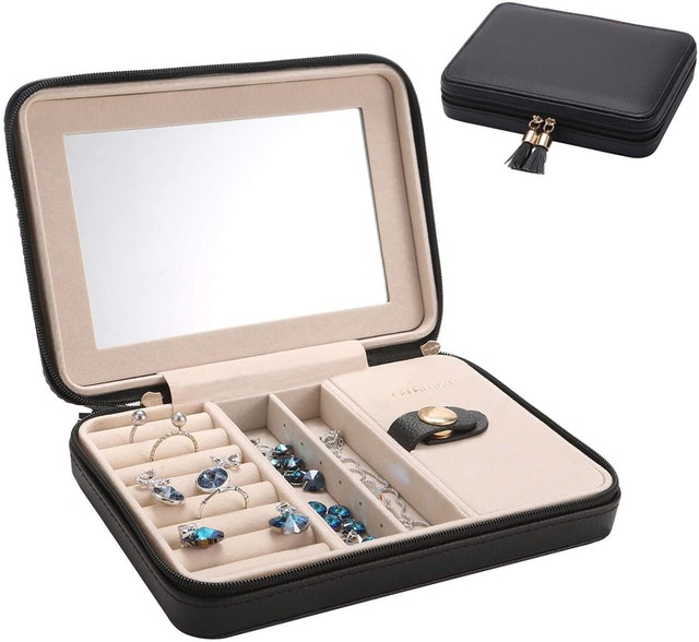Le Papillon Jewelry Faux Leather Travel Jewelry Box 1