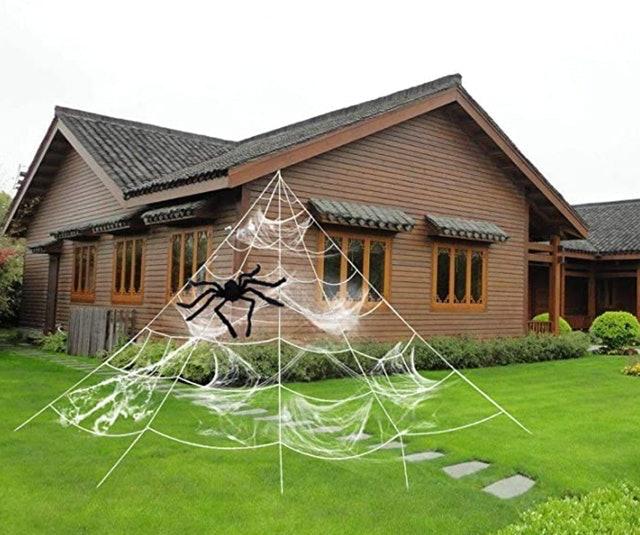 Hyrixdirect Stretch Cobweb With Spider 1