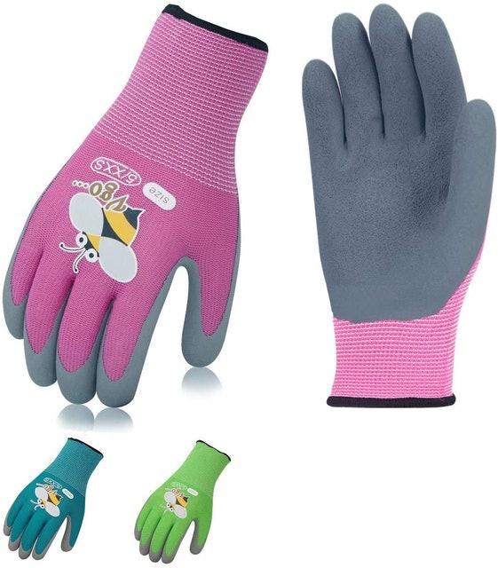 Vgo... Foam Rubber Coated Gardening Gloves 1