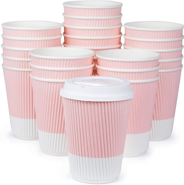 Glowcoast Premium Disposable Coffee Cups With Lids 1