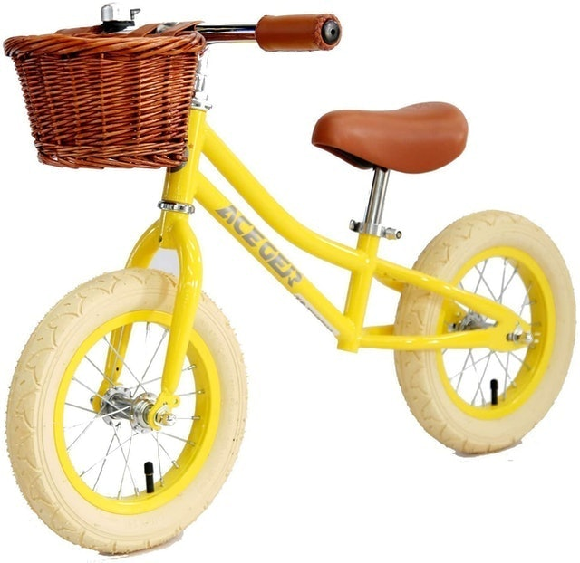 Aceger Balance Bike for Kids with Basket 1
