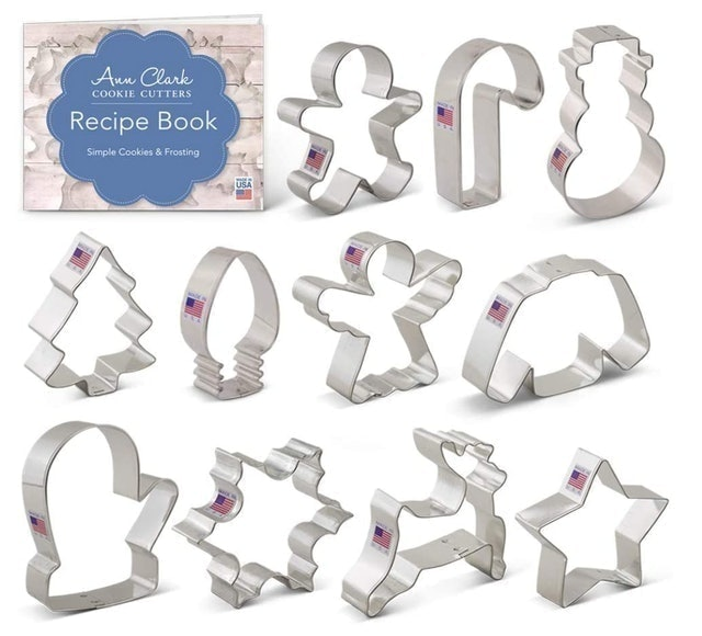 Ann Clark Christmas Cookie Cutter Set with Recipe Booklet 1