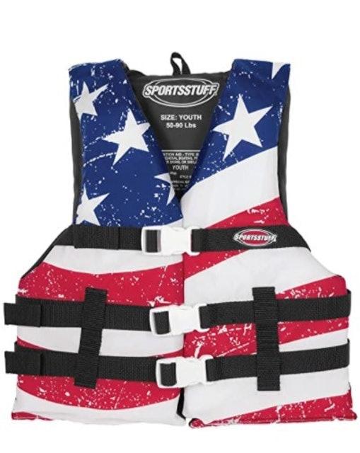 SportsStuff Stars and Stripes Life Jacket 1