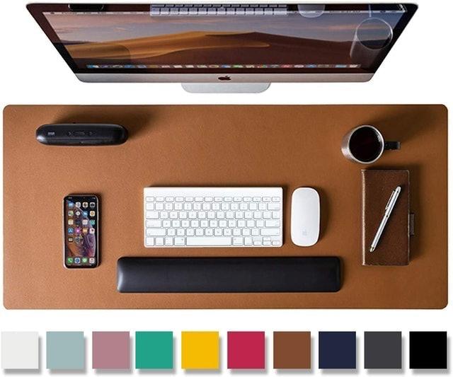 Aothia Non-Slip PU Leather Desk Blotter 1