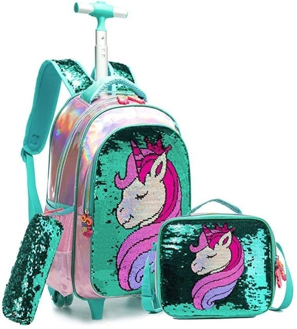 Meetbelify Rolling Backpack for Girls 1
