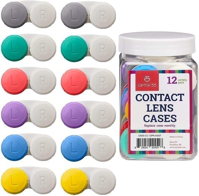 Optix 55 Assorted Contact Lens Cases  1