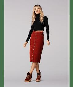 Top 10 Best Women's Corduroy Skirts in 2021 (Lee, Zara, and More) 5