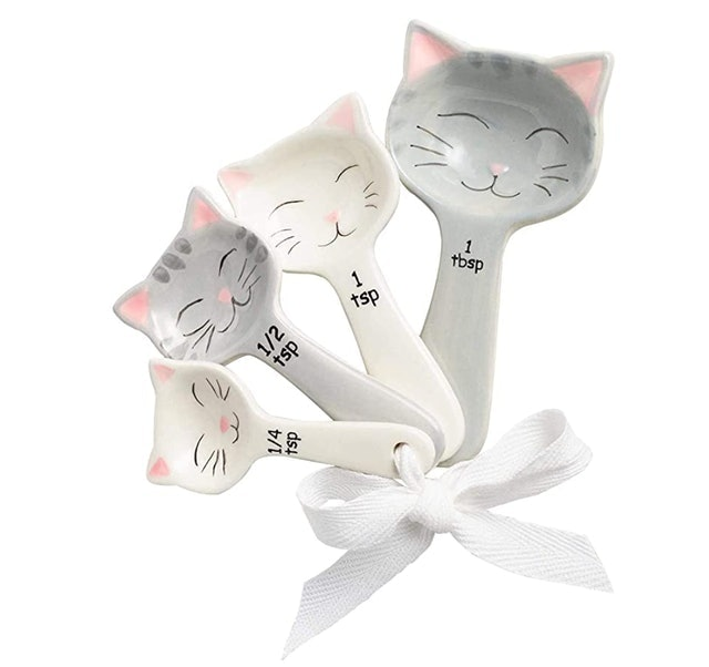 World Market Cat Shaped Ceramic Measuring Spoons 1