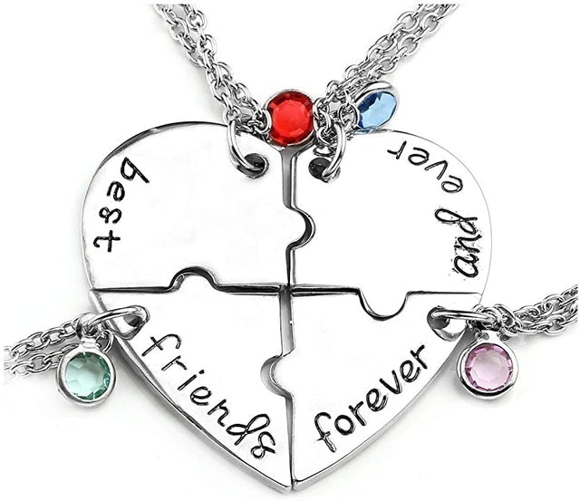 Valentine's Day Necklaces Jovivi Best Friends Forever and Ever Friendship Necklaces 1