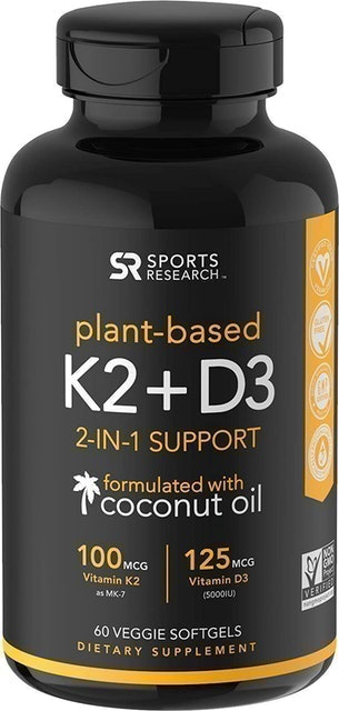 Sports Research Plant-Based K2+D3 2-in-1 Support 1