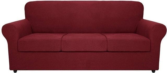 MAXIJIN 4 Piece Stretch Sofa Cover 1
