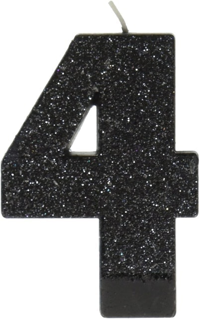 Amscan Numeral Glitter Candle 1