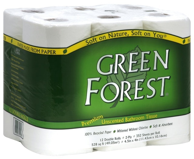 Green Forest Premium 100% Recycled Bathroom Tissue 1