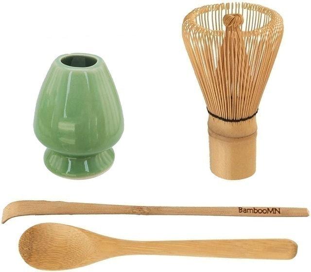 BambooMN Matcha Green Tea Whisk Set 1