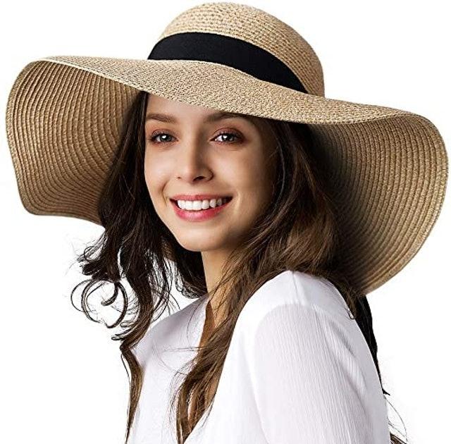 Furtalk Wide Brim Sun Straw Hat 1