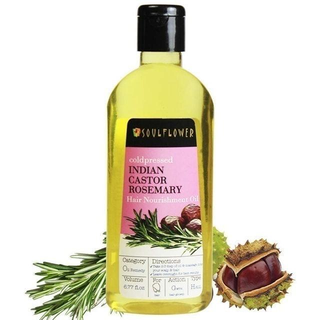 Soulflower Indian Castor Rosemary Hair Nourishment Oil 1
