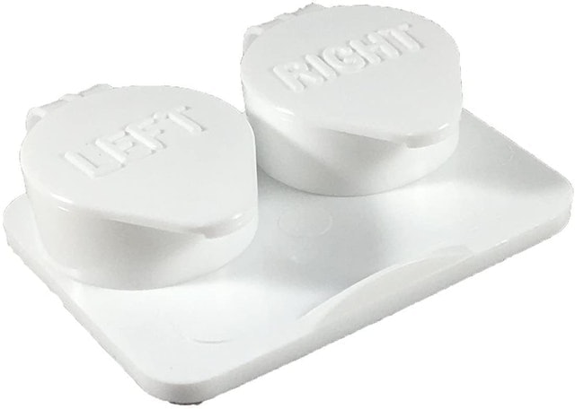 Amcon labs Flip-Top White Contact Lens Cases 1