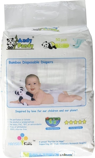 Andy Pandy Bamboo Disposable Diapers  1