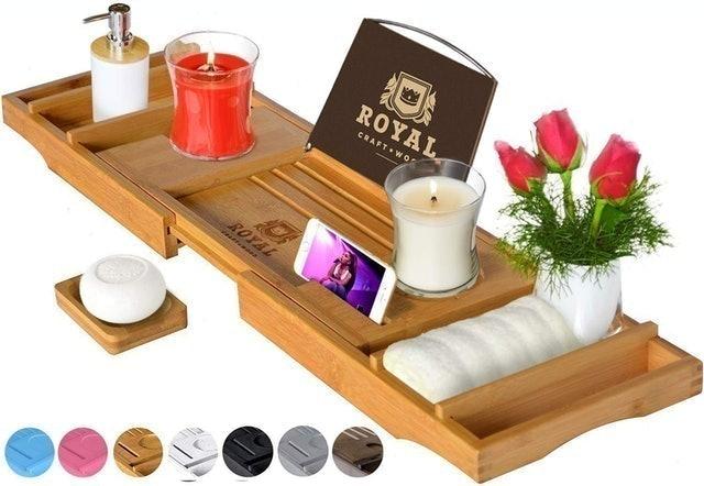 Royal Craft Wood Bathtub Caddy Tray 1